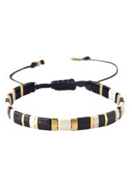 MISHKY Lucca Beaded Bracelet - Black & Gold