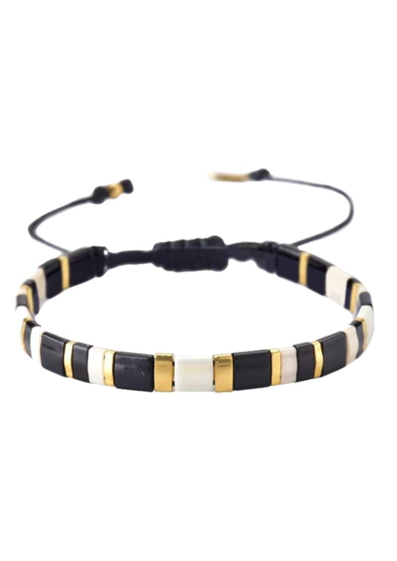 MISHKY Lucca Beaded Bracelet - Black & Gold  main image