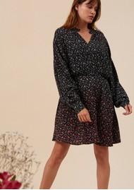 IDANO Cindy Printed Dress - Black