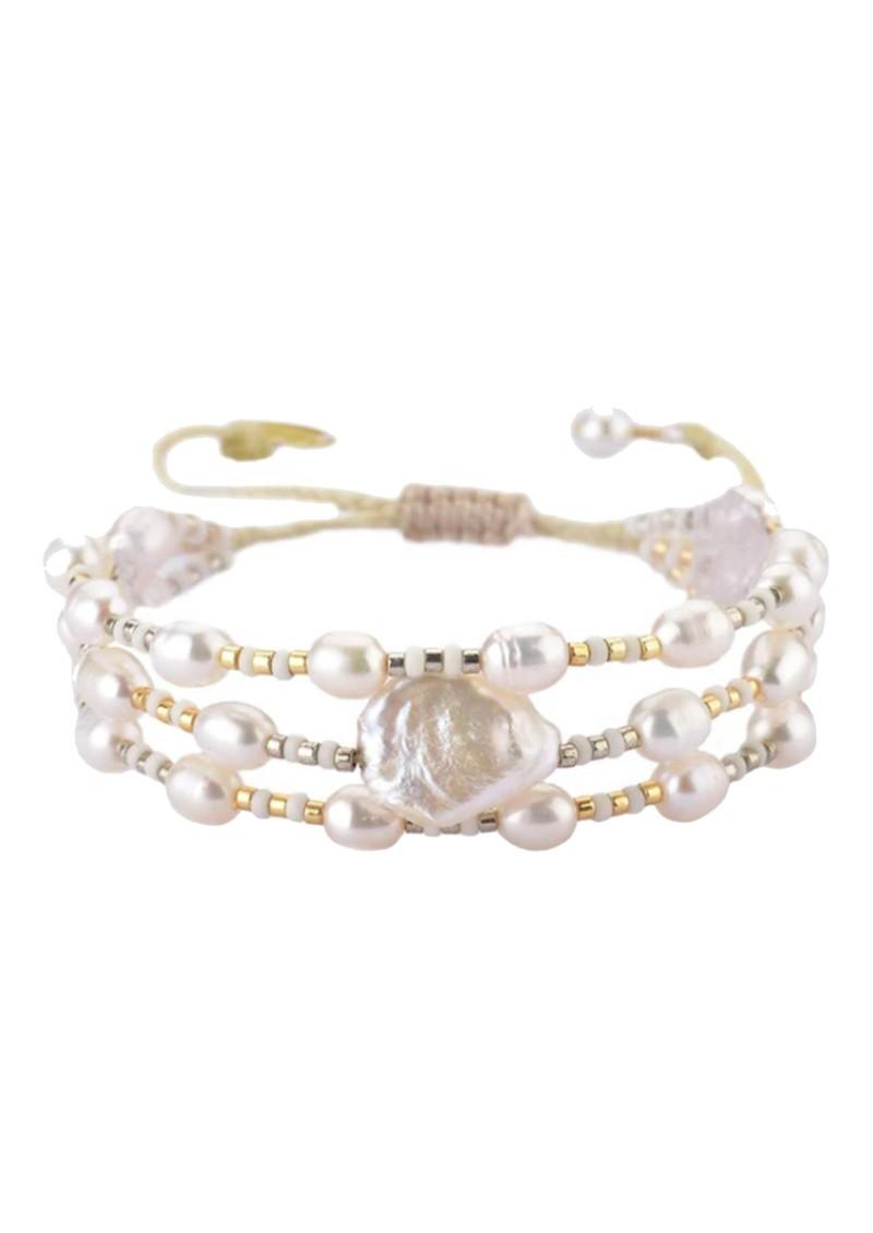 MISHKY Maya Pearl Beaded Bracelet - Gold main image