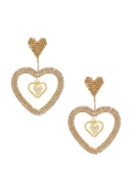 MISHKY Sacred Heart Beaded Earrings - Gold