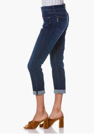 Paige Denim Brigitte Mid Rise Slim Fit Boyfriend Jeans - Enchant