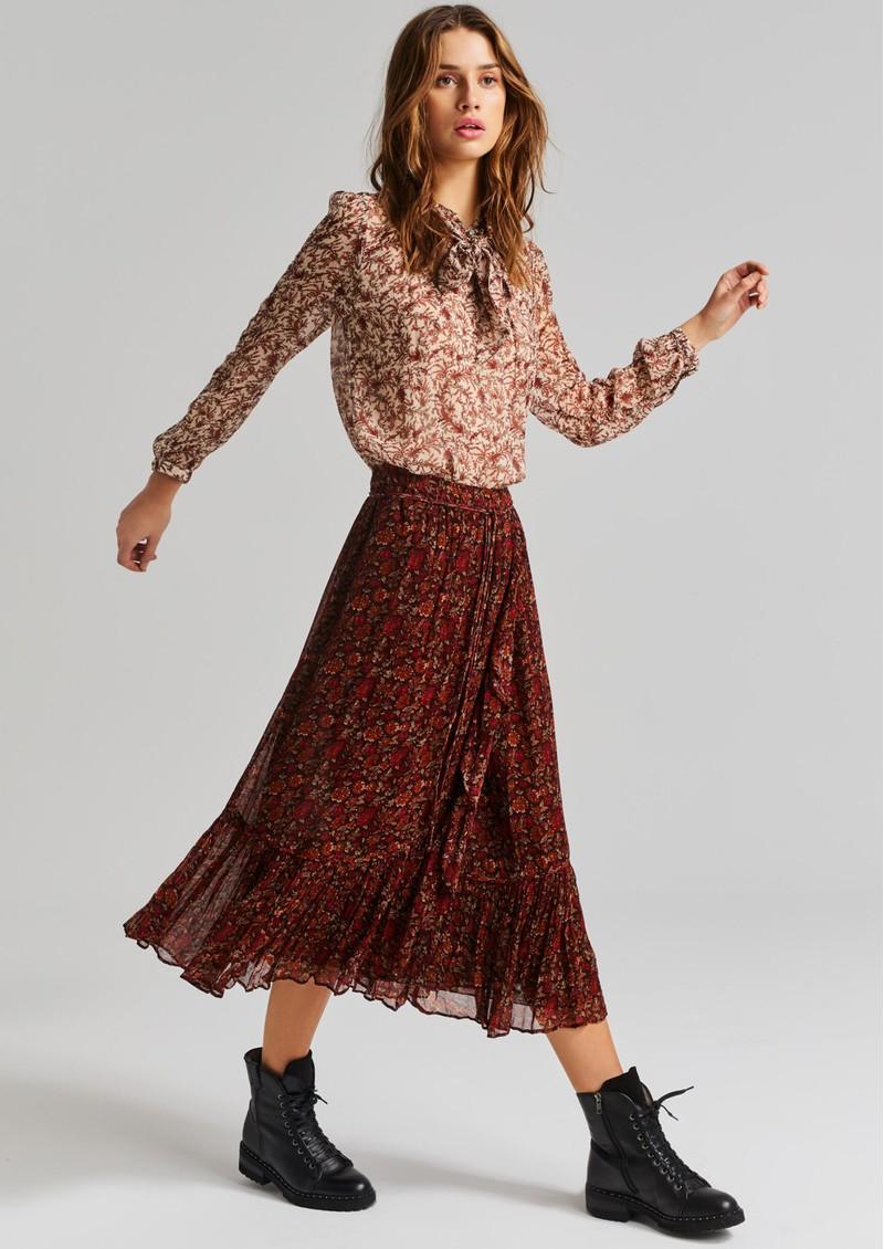 MOLIIN Yrsa Midi Skirt - Bitter Chocolate main image