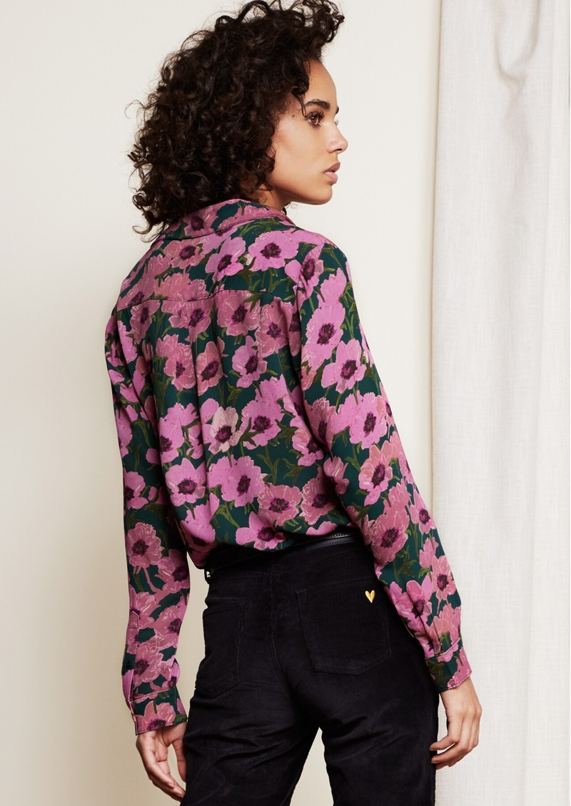 FABIENNE CHAPOT Lily Blouse - Purple Poppies main image