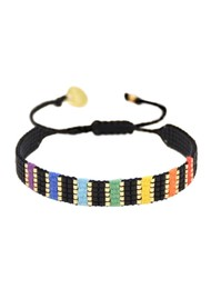 MISHKY Rainbow Yeyi Beaded Bracelet - Multi Black