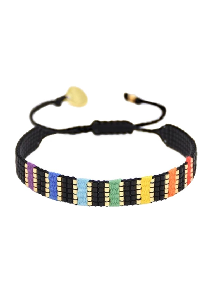 MISHKY Rainbow Yeyi Beaded Bracelet - Multi Black main image