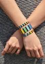Rainbow Yeyi Beaded Bracelet - Multi Black additional image