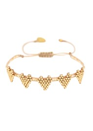 MISHKY Multi Heart Row Beaded Bracelet - Gold