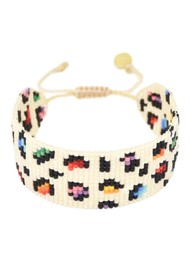 MISHKY Big Rainbow Panther Beaded Bracelet - Multi