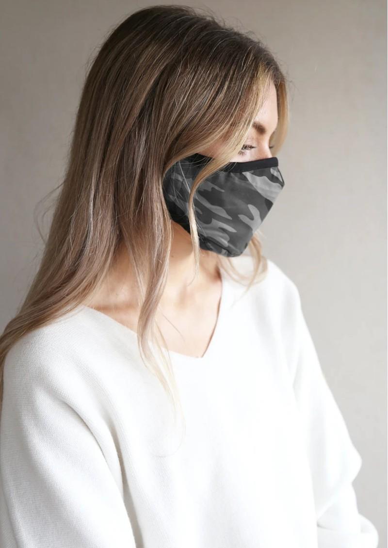 BREATHE Adult Face Mask - Grey Camo main image