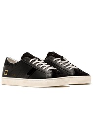 D.A.T.E Hill Low Leather Trainers - Black