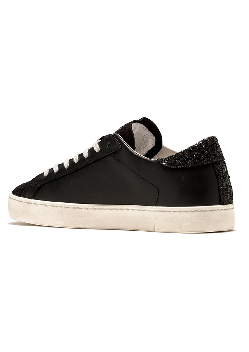 D.A.T.E Hill Low Leather Trainers - Black main image