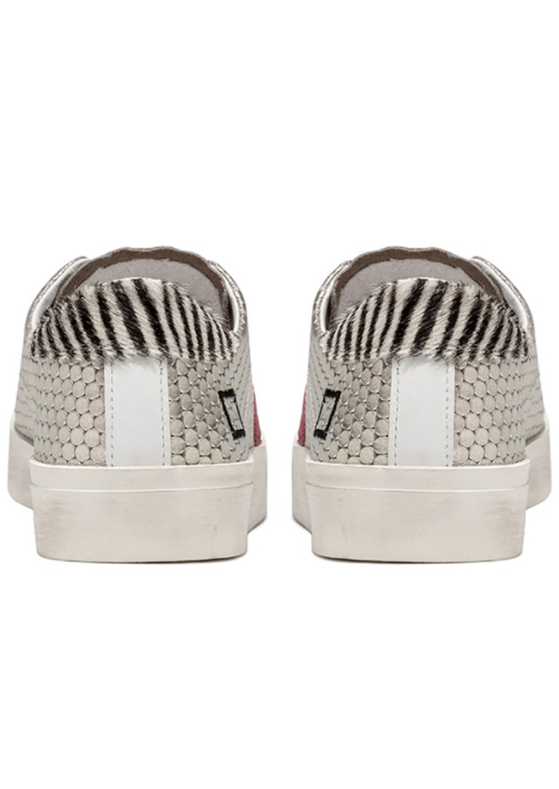 D.A.T.E Hill Low Leather Trainers - Pong Platinum main image