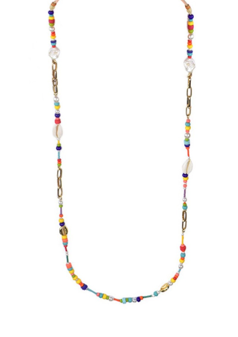 MISHKY Colouful Beaded Glasses Strap - Multi main image