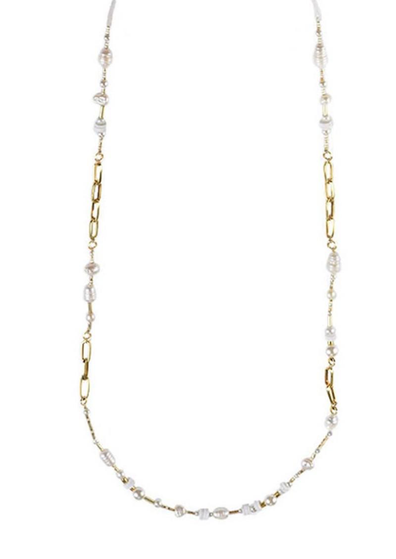 MISHKY  Pearl Glasses Strap - Gold main image
