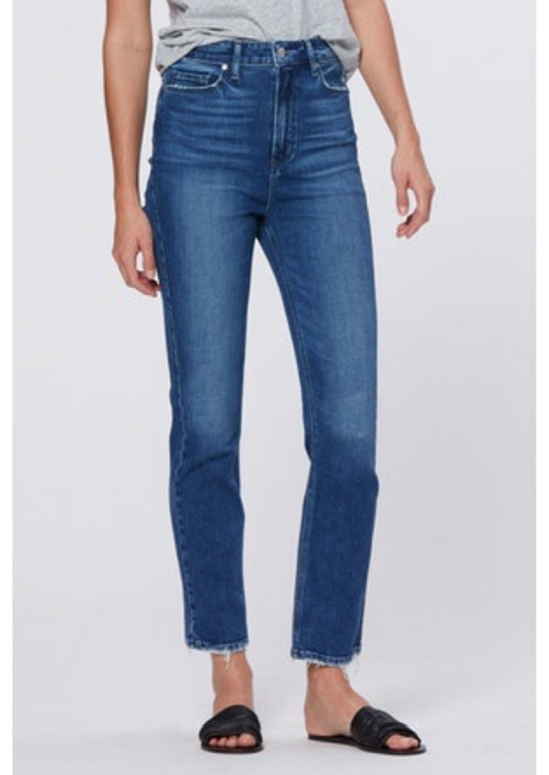 Paige Denim Cindy Ultra High Rise Straight Ankle Jean - Stargaze Distressed main image