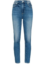 Paige Denim Sarah Slim High Rise Vintage Slim Leg Jeans - Roadhouse