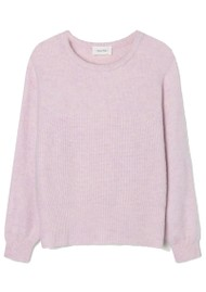 American Vintage East Long Sleeve Jumper - Baby Lilas