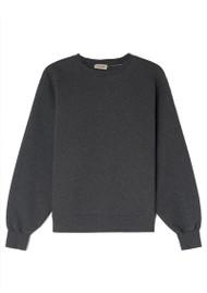 American Vintage Ibowie Organic Cotton Sweatshirt - Grey Melange
