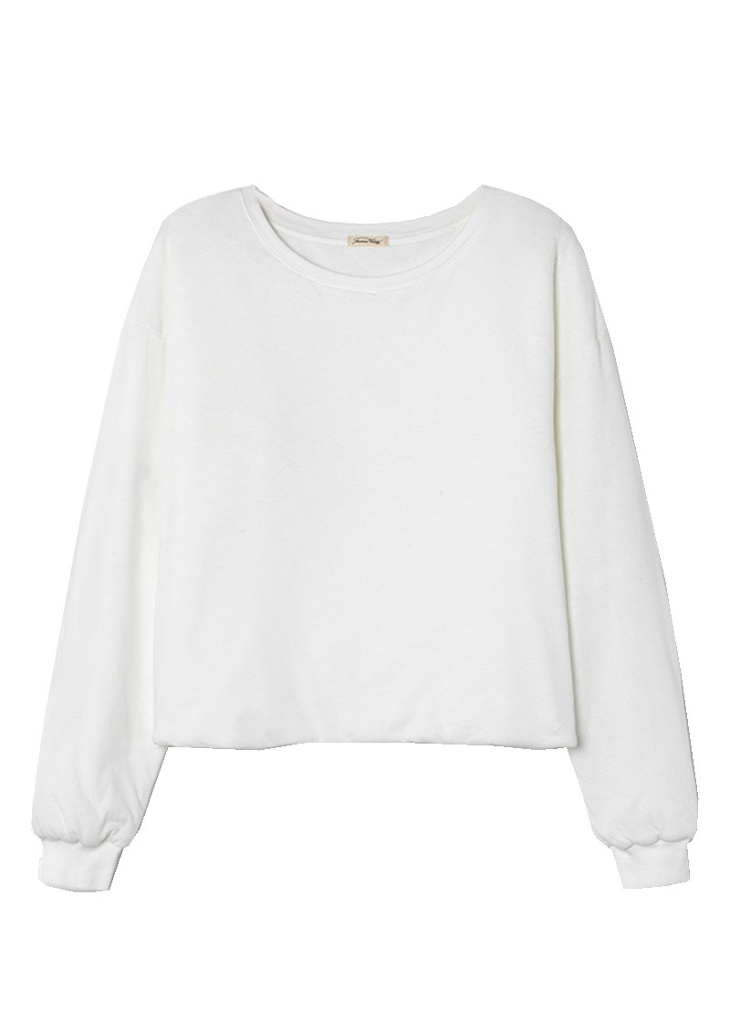 Wetown Cotton Sweatshirt - White main image