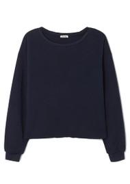 American Vintage Wetown Cotton Sweatshirt - Navy