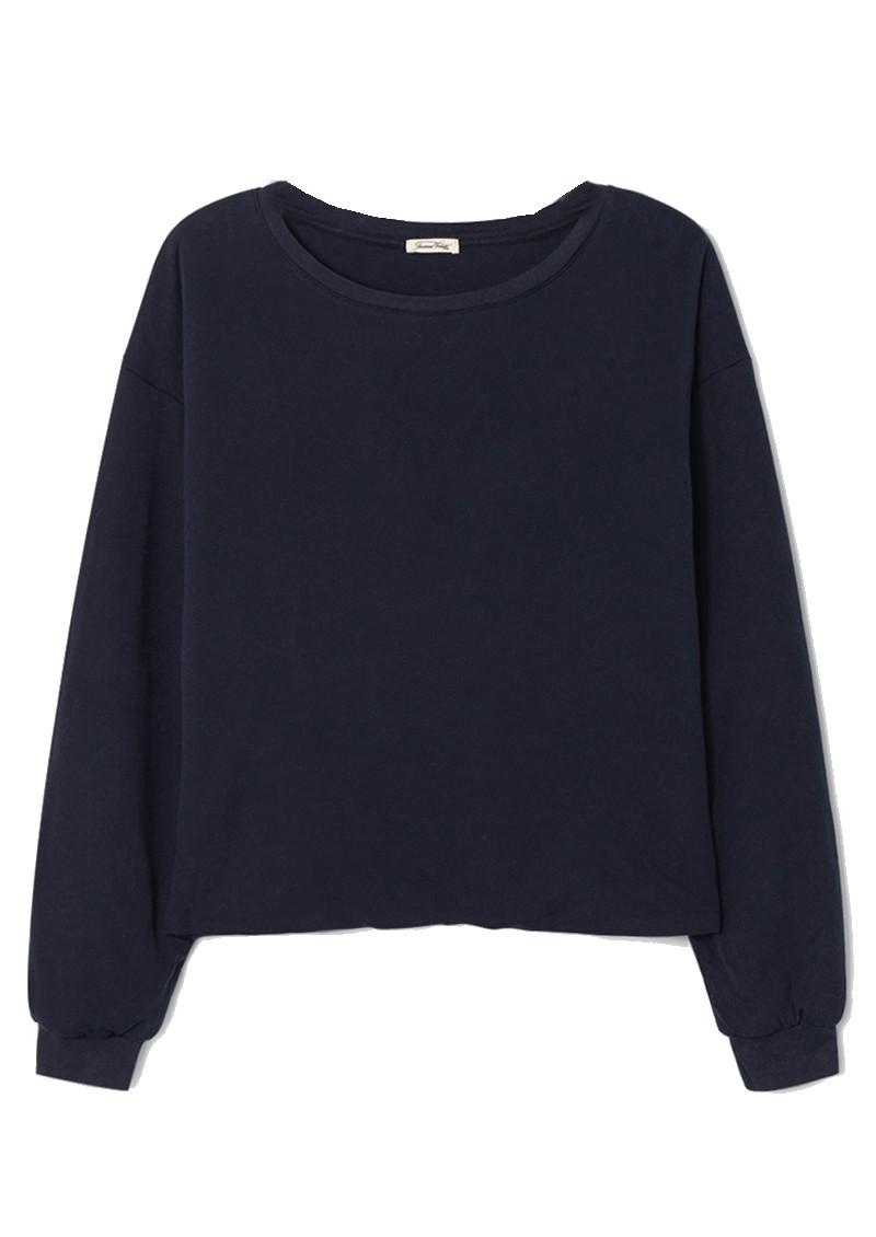 American Vintage Wetown Cotton Sweatshirt - Navy main image
