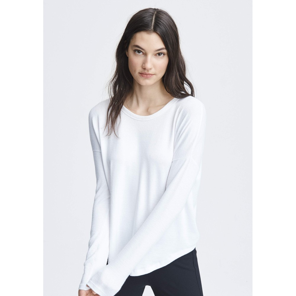 The Knit Long Sleeve T-Shirt - White