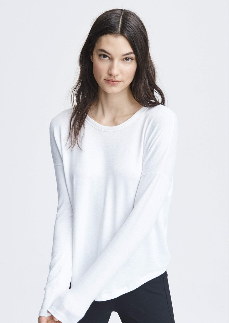 The Knit Long Sleeve T-Shirt - White main image