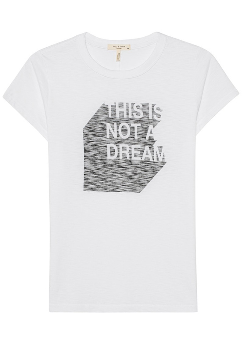 RAG & BONE 'This Is Not A Dream' Organic Cotton T-Shirt - White main image