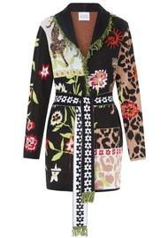 HAYLEY MENZIES Short Belted Cardigan - Enchanted Leopard
