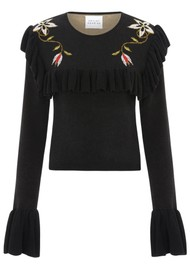 HAYLEY MENZIES Siouxsie Frill Jumper - Black