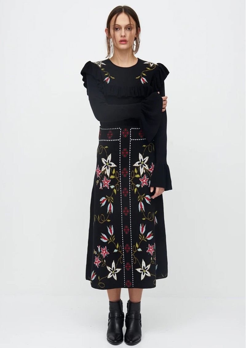 HAYLEY MENZIES Siouxsie Frill Jumper - Black main image