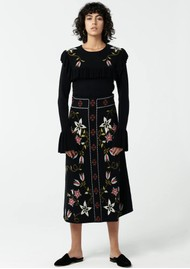 HAYLEY MENZIES Siouxsie Midi Skirt - Black