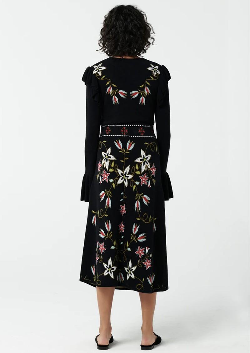 HAYLEY MENZIES Siouxsie Midi Skirt - Black main image