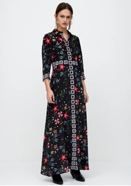 HAYLEY MENZIES Long Silk Shirt Dress - Siouxsie Black