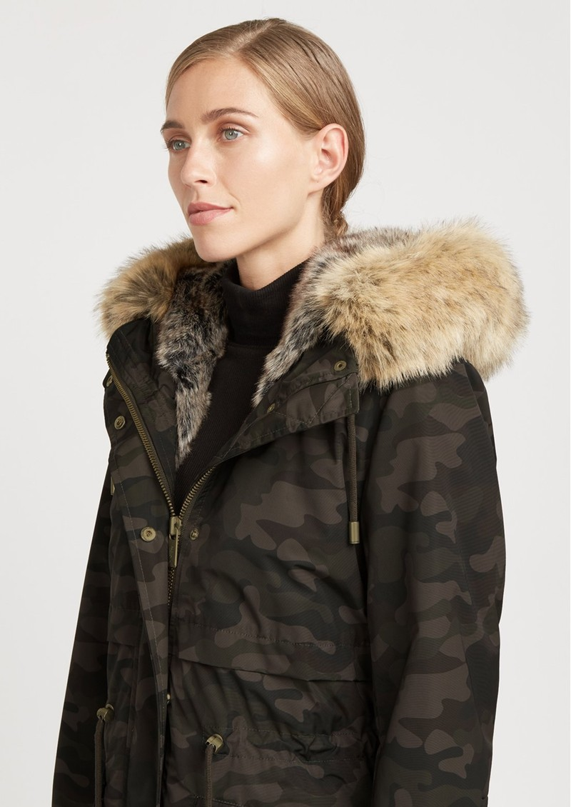 Caversham Faux Fur Lined Parka - Camo main image