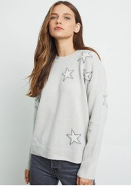 Rails Virgo Wool & Cashmere Star Jumper - Off White & Grey