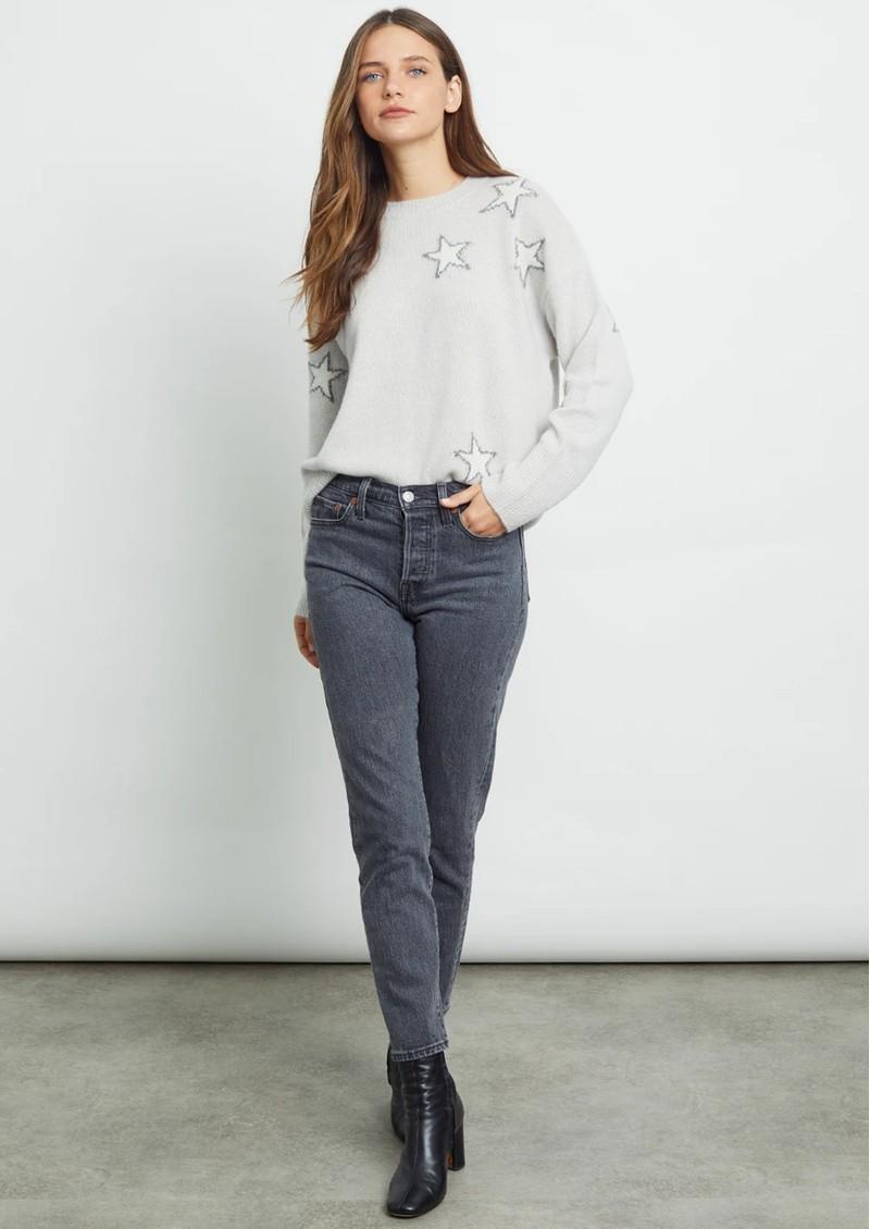 Rails Virgo Wool & Cashmere Star Jumper - Off White & Grey main image