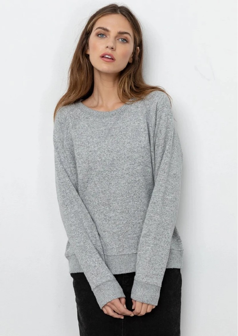 Rails Callahan Sweater - Grey Melange main image
