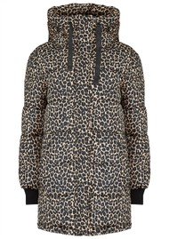 DUALIST Biana Reversible Parka Coat - Black & Leopard