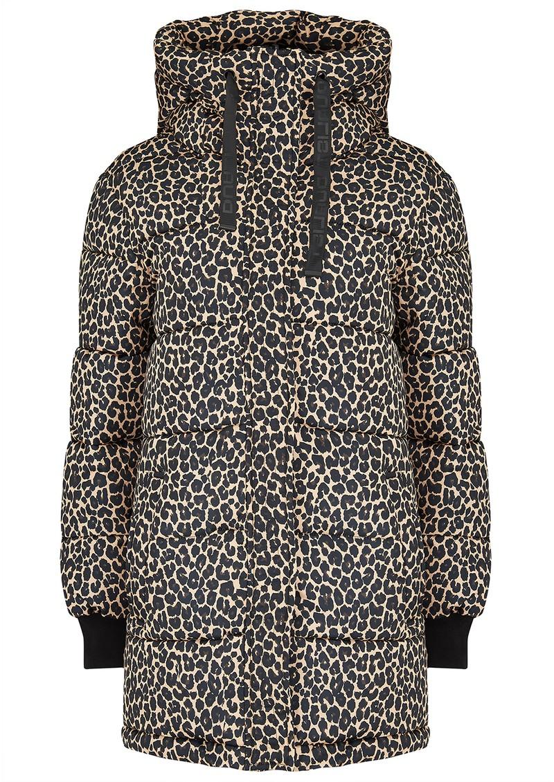 DUALIST Biana Reversible Parka Coat - Black & Leopard main image