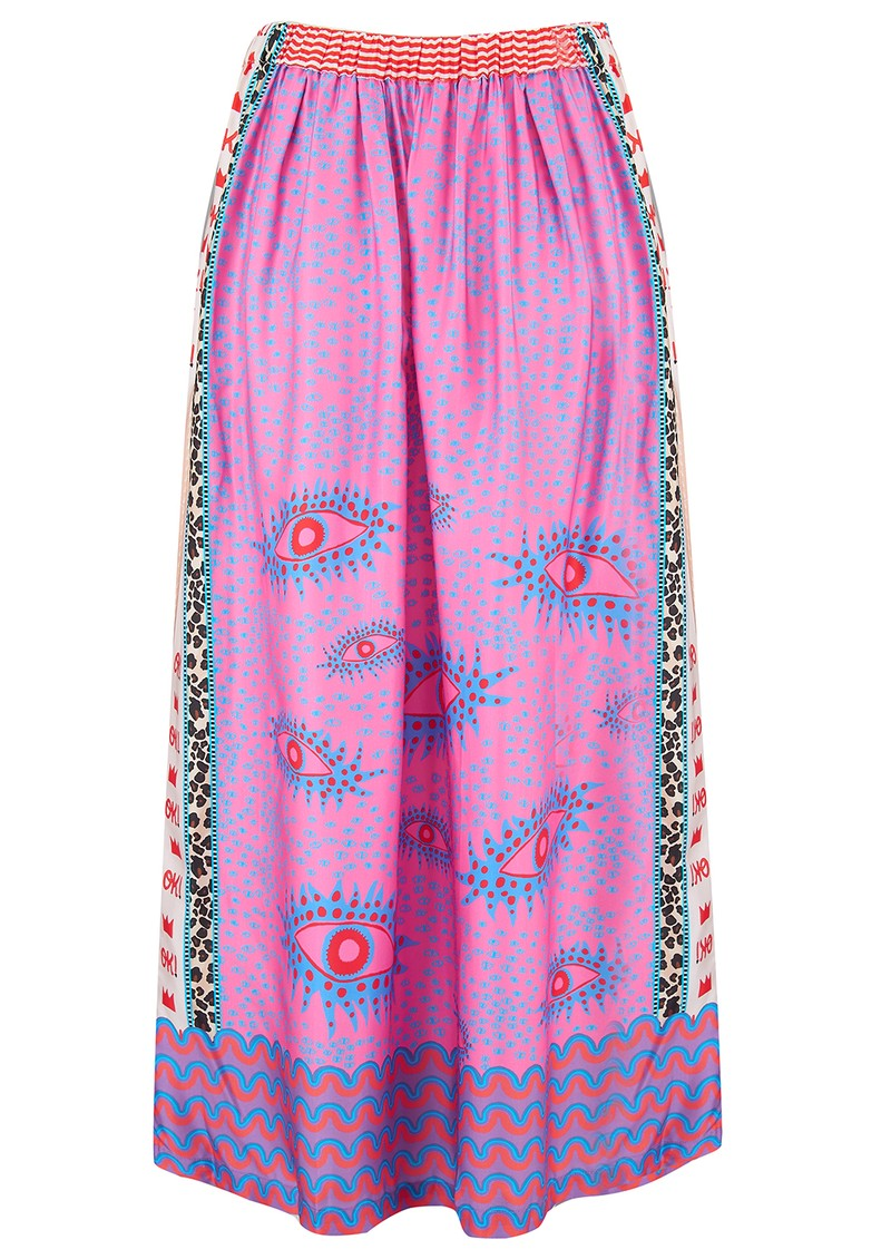 ME369 Hailey Eye Print Skirt - Multi main image