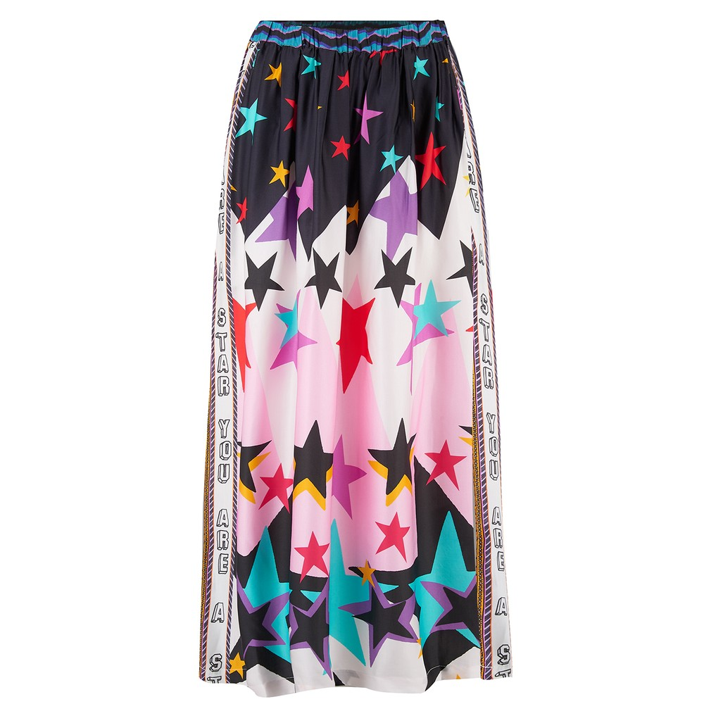 Hailey Star Print Skirt - Multi