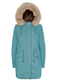 PARKA LONDON Caversham Faux Fur Lined Parka - Ocean Teal