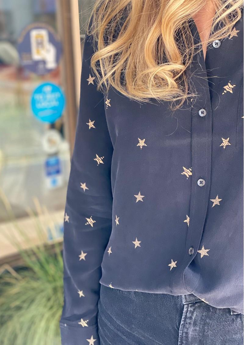 Rails Kate Silk Shirt - Animal Stars main image
