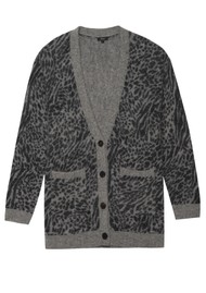 Rails Oslo Wool Mix Cardigan - Grey Animal