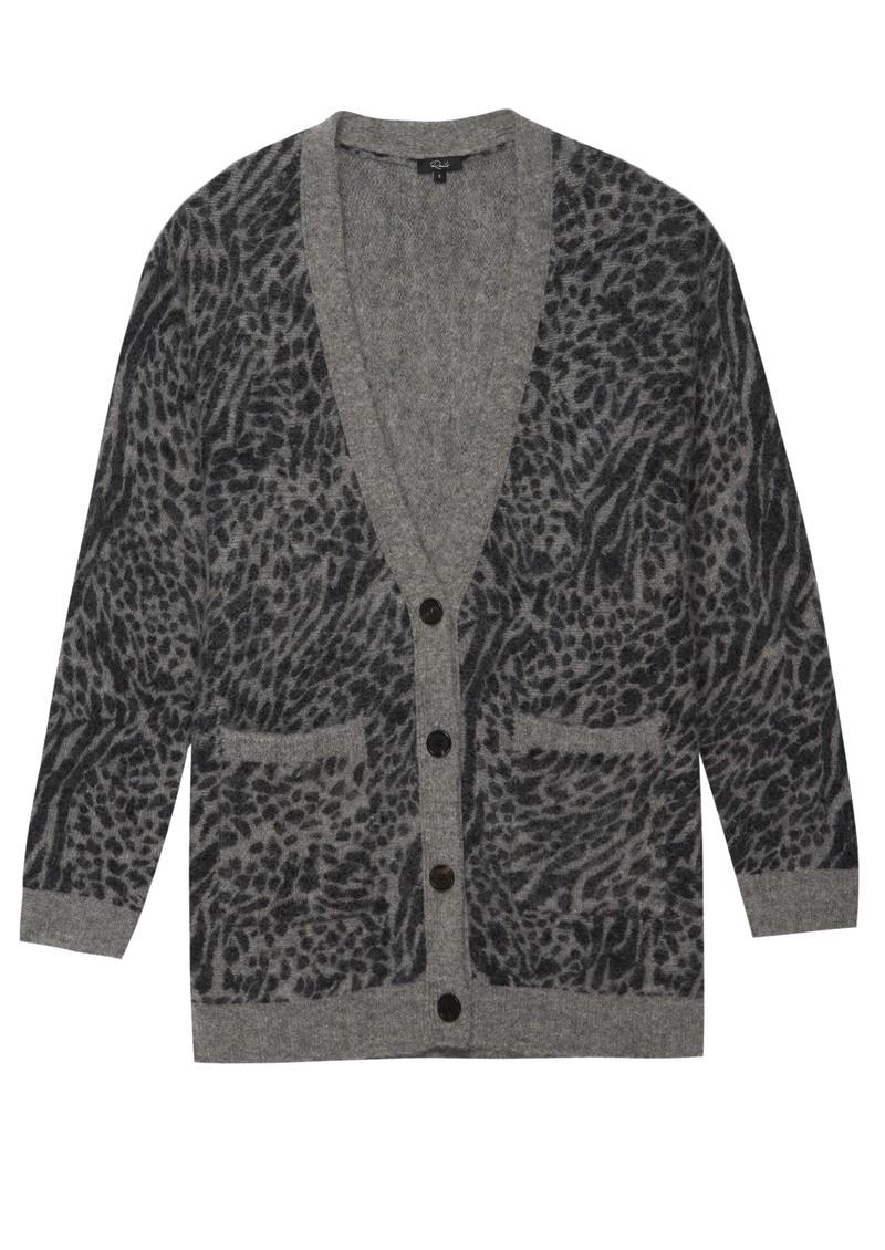 Rails Oslo Wool Mix Cardigan - Grey Animal main image
