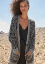Oslo Wool Mix Cardigan - Grey Animal additional image