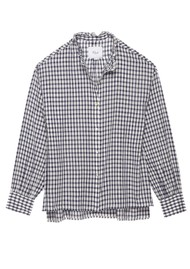 Rails Andie Cotton Blouse - Navy Check