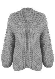 MAISON ANJE Loslo Wool Mix Chunky Knit Cardigan - Cloud